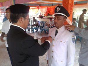 Hasanuddin S.Hi  saat dilantik