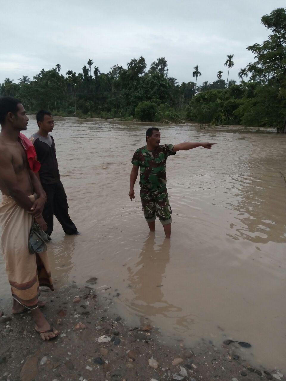 Banjir di Aceh Utara Kembali Datang, Ratusan Babinsa Disiagakan
