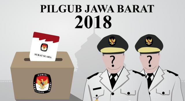 Pilgub 2018, Empat Paslonakan Daftar ke KPU Jawa Barat