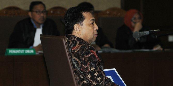 Eksepsi Setya Novanto Ditolak Majelis Hakim
