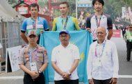 Pelaksanaan Balap Sepeda Asian Games Berjalan Lancar, Emas Terakhir Diraih Alexey Lutsenko Setelah Menjuarai ITT Putra