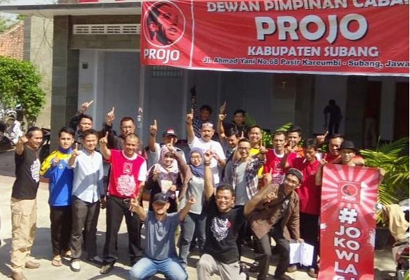 Projo Optimis Jokowi-Ma'ruf Menang Telak di Subang