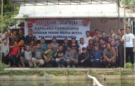 Pererat Kemitraan, Polres dan Jurnalis Purwakarta Mancing Bareng di Jatiluhur