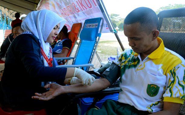 Stok Darah Minim, Prajurit Korem 011 Lilawangsa Donor Darah