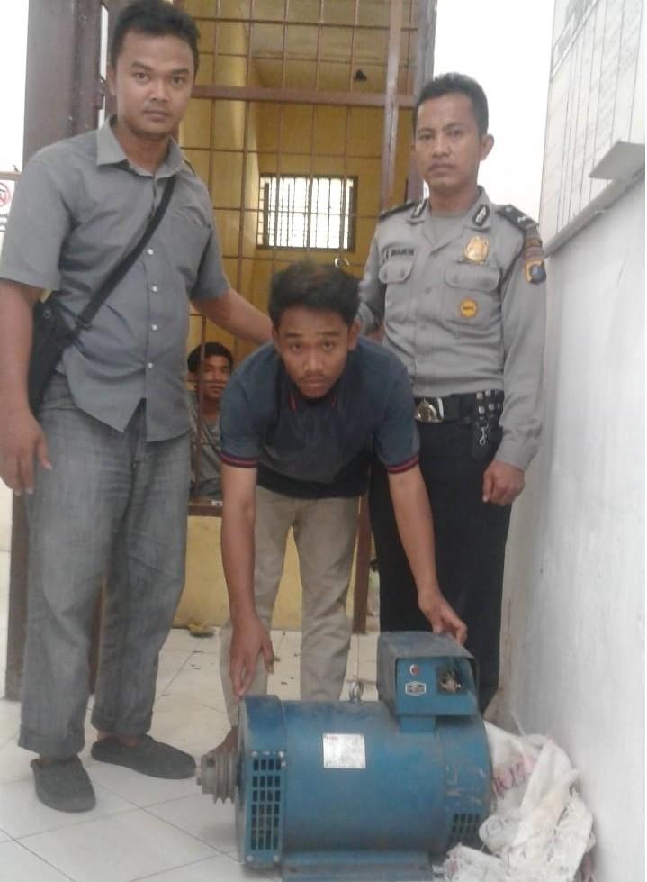 Pelaku Pencuri Ganset Diringkus Polsek Padang Hilir