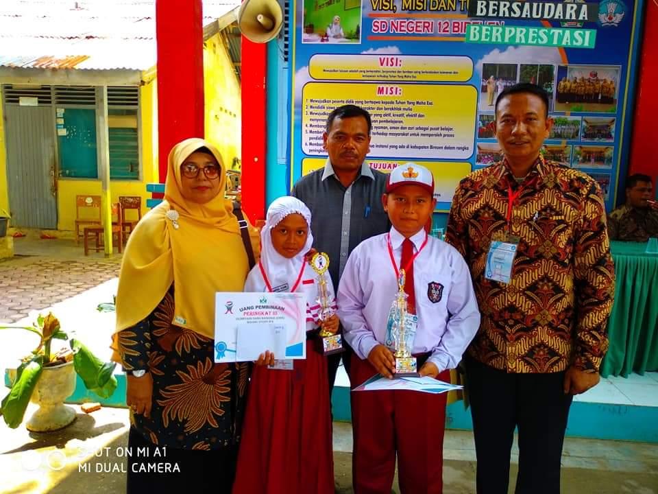 Enam Siswa SD Bireuen Juara OSN dan Maju ke Tingkat Provinsi Aceh