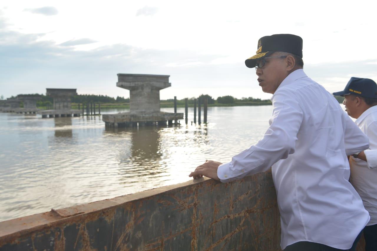 Tujuh Tahun Pembangunan Jembatan Kilangan - Kuala Baru Menelan Biaya Rp 81,62 Miliar