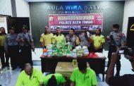 Polres Aceh Timur Sita 28 Kg Sabu dan Tiga Tersangka Ditangkap