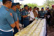 Empat Penyelundup 50 Kilogram Sabu dan Senpi Ditangkap F1QR Lanal Lhokseumawe