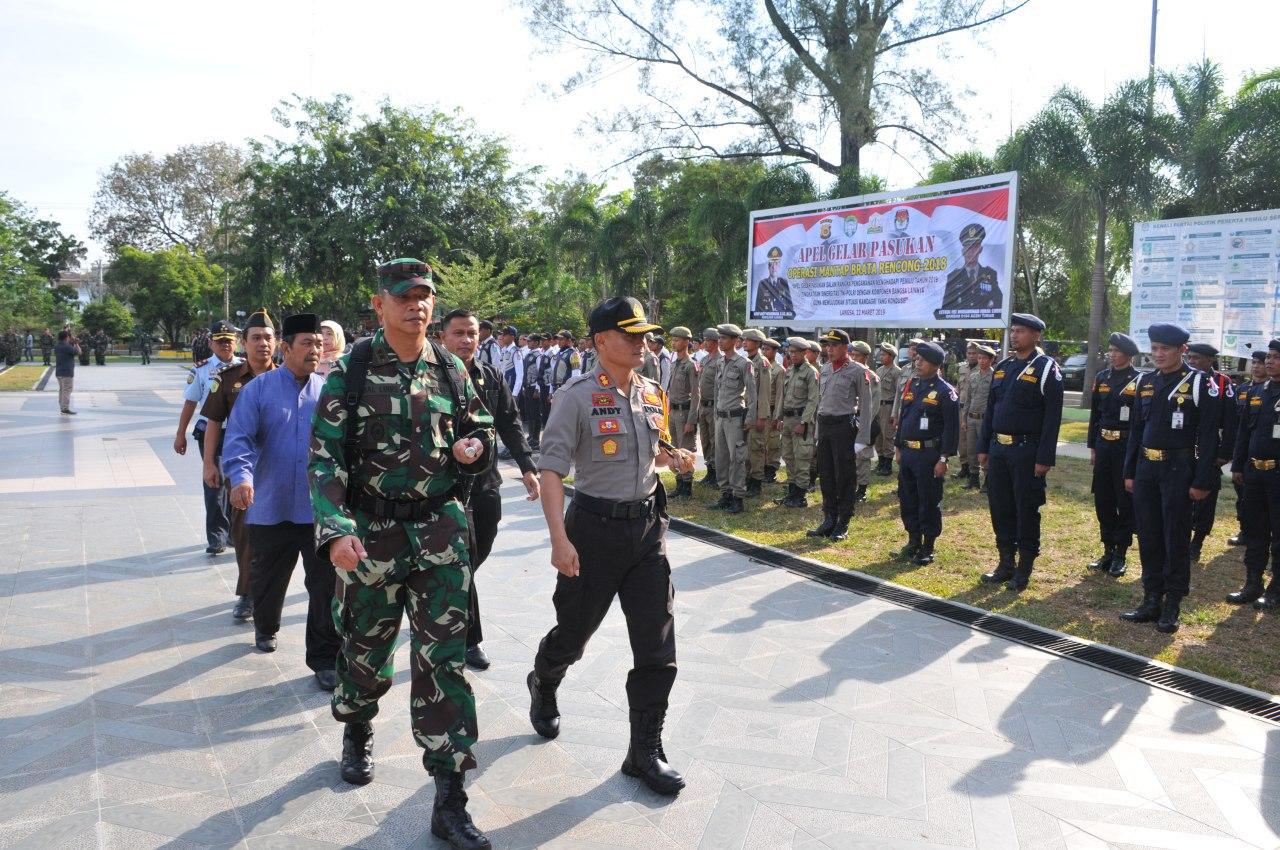 Sinergitas TNI-POLRI di Apel Gelar Pasukan Operasi Mantap Brata Pengamanan Pemilu 2019