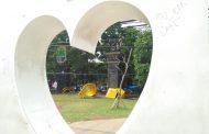 Taman I Love Karawang Dilengkapi Fasilitas Bermain Anak