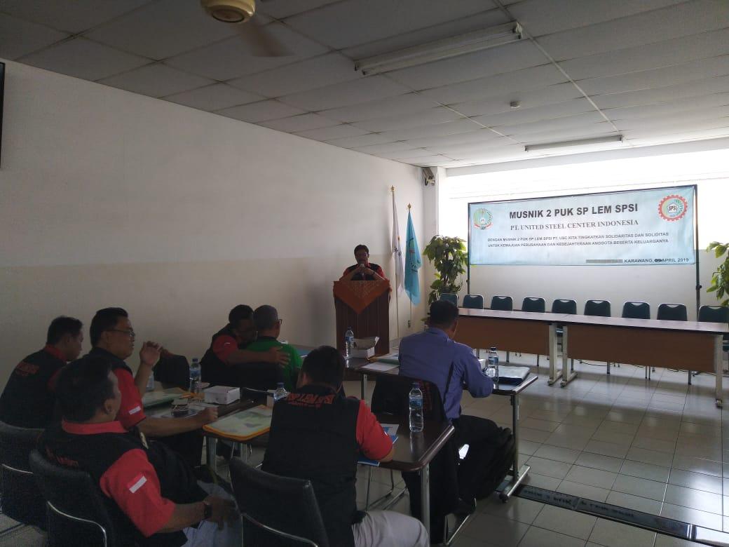 Gibson Simanjuntak Terpilih Jadi Ketua Serikat Pekerja PUK LEM SPSI PT USC Indonesia Periode 2019-2022