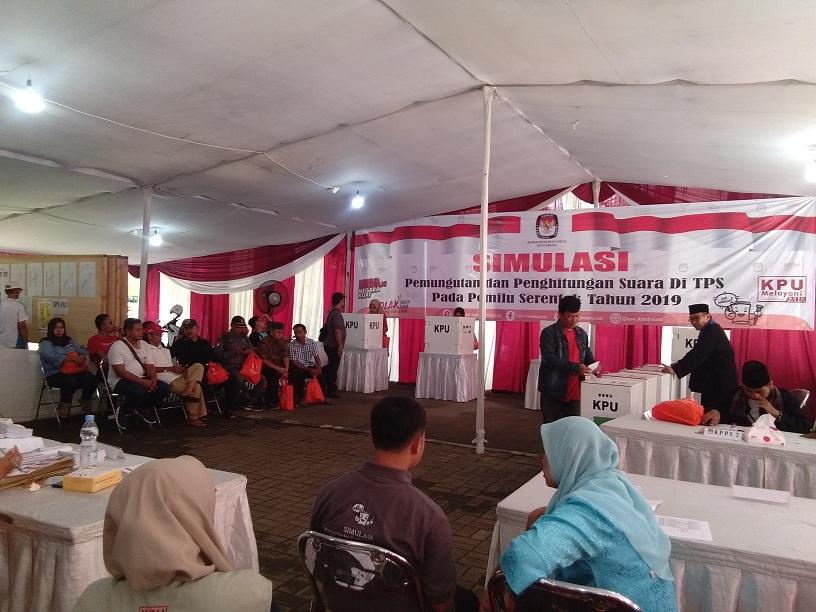 Simulasi Pemilu Jadi Bahan Evaluasi Bagi KPU Kota Bekasi
