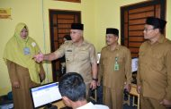 Bupati Aceh Tengah Tinjau Pelaksanaan UNBK SMA Sederajat