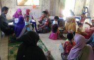 Wujudkan Balita Sehat, Babinsa Ramil 06 Bantu Pelayanan Posyandu