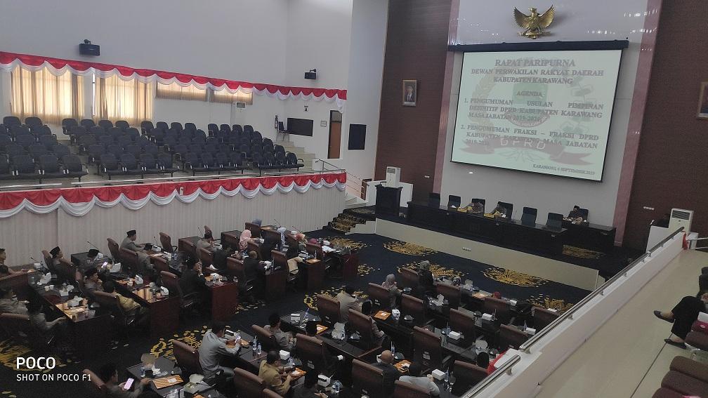 DPRD Karawang Umumkan Pimpinan Defenitif