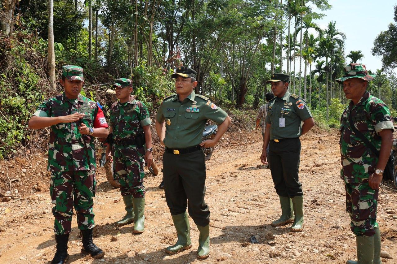 Tim Wasev Mabes TNI AD Pantau Pelaksanaan TMMD ke 106 di wilayah Kodim 0103 Aceh Utara