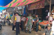 Koramil 20 Pante Bidari dan Muspika Tertibkan Pasar Kedai Baro