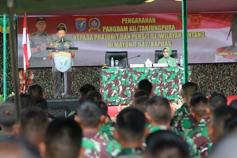 Prajurit Kodam XII Tanjungpura Harus Menjaga Mental Kejuangan