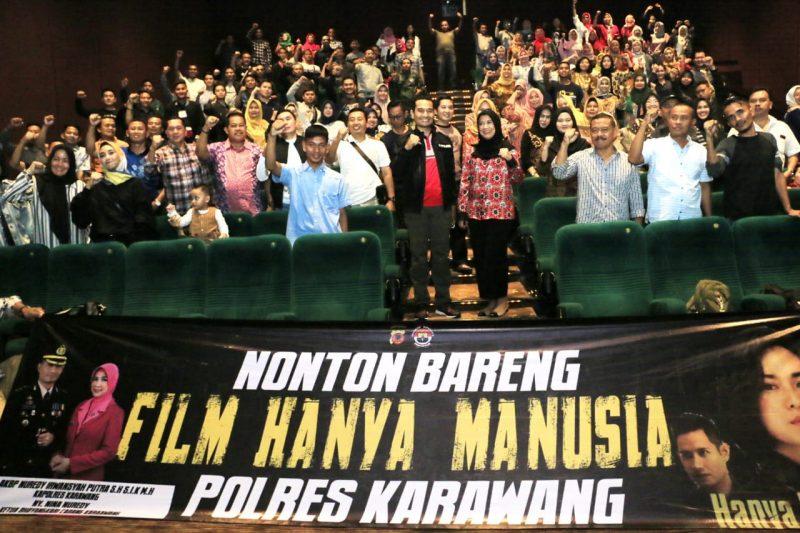 Polres Karawang Ajak Keluarga dan Wartawan Nobar Film