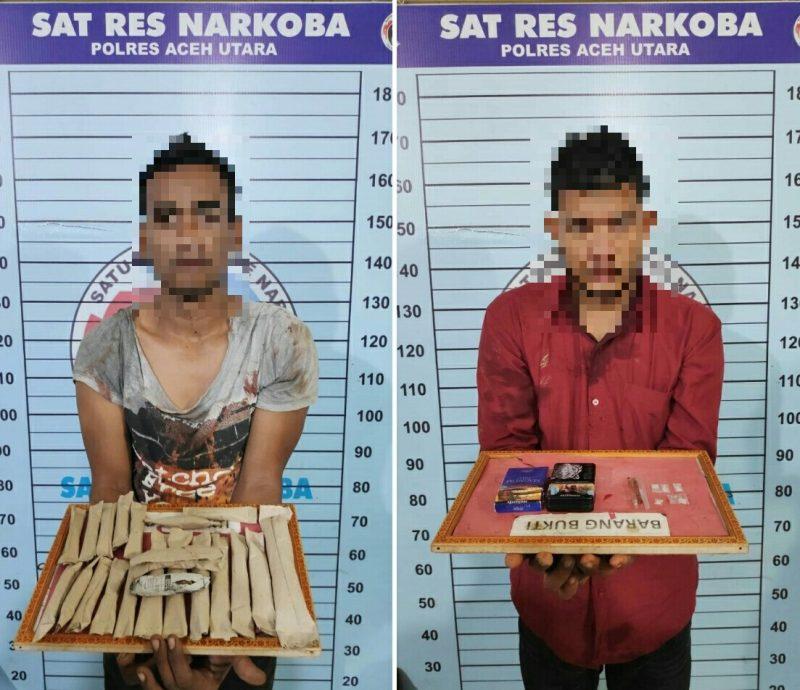 Dua Pemuda Ini Diciduk Polisi Saat Pesta Narkoba di Gubuk