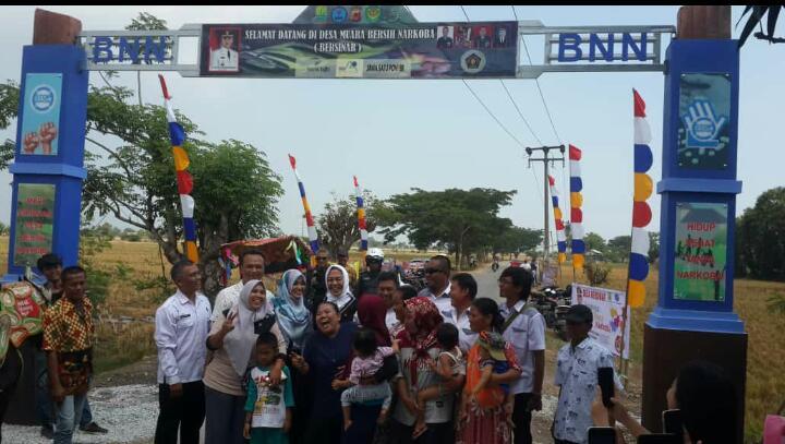 Desa Muara Bersinar Jadi Gerbang Perdana Wilayah Bersih Narkoba