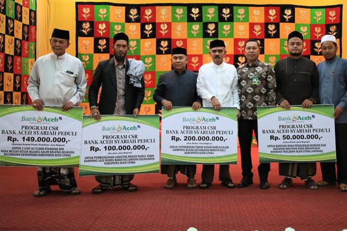 Bank Aceh Syariah Salurkan CSR Rp 499 Juta untuk Dayah dan Masjid di Aceh Utara
