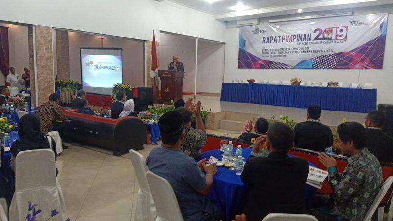 Evaluasi Pemilu 2019, KIP Aceh Gelar Rapim Bahas Masalah dan Solusi