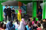 PWI Karawang Peduli Gandeng Bjb Berikan Trauma Healing pada Ratusan Anak Korban Banjir