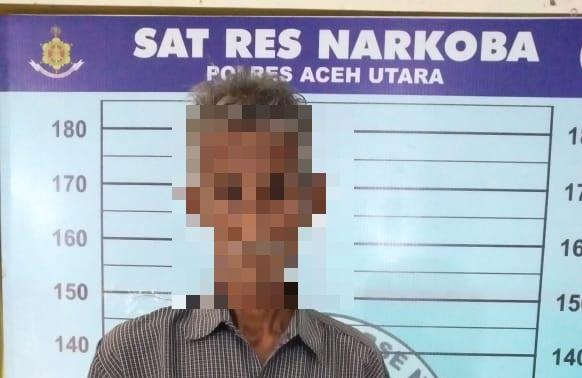 Kakek Lanjut Usia Ini Diringkus Polisi karena Diduga Mengedarkan Sabu