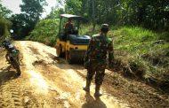 Pra TMMD Ke-107 Kodim 0104 Aceh Timur Diawali Pengerasan Jalan Desa