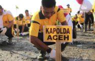Polda Aceh Laksanakan Penanaman Mangrove