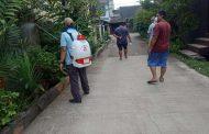 700 Kepala Keluarga di Jakasampurna Disemprot Disinfektan