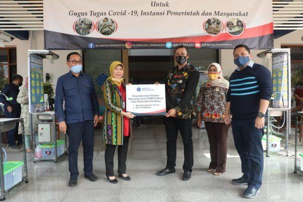 BBPLK Bekasi Sumbang Wastafel Canggih ke Gugus Tugas Covid-19 Kota Bekasi