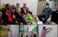 Mahasiswa UMM Sosialisasi dan Bagikan Sabun Cuci Tangan ke Masjid Sampang