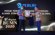 Peruri Raih Penghargaan 9th Anugerah BUMN 2020 Kategori Aliansi Strategis Nasional dan Global