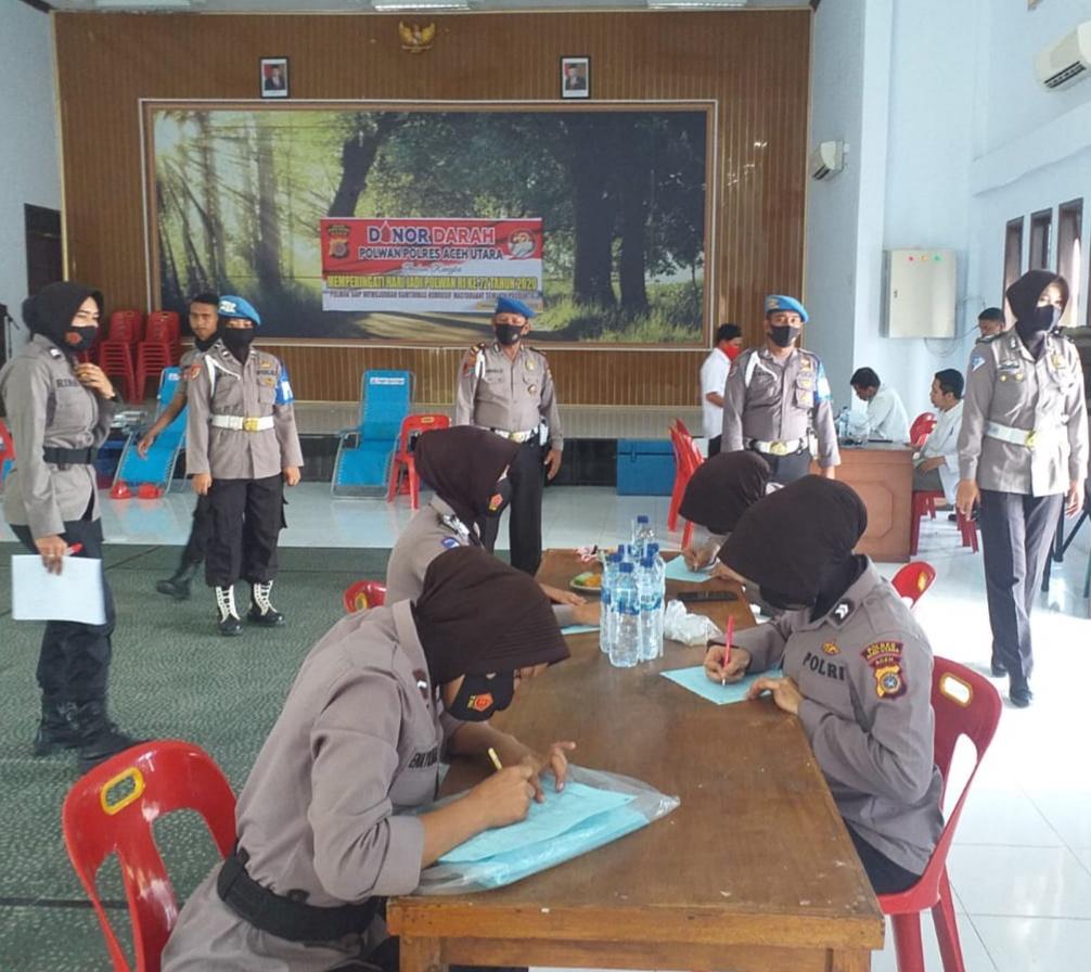 Propam Polres Aceh Utara Razia Penggunaan Masker Anggota Polisi