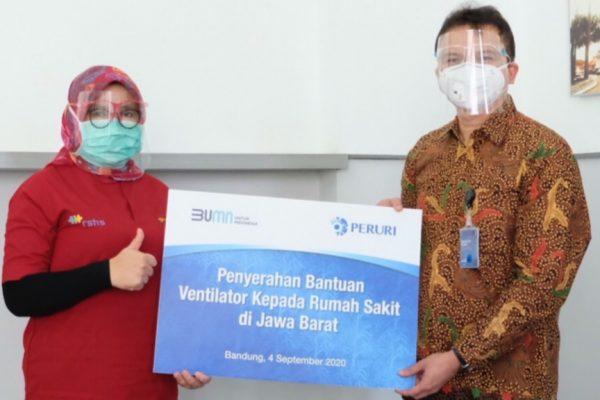 Peruri Serahkan Bantuan 11 Unit Ventilator untuk Rumah Sakit di Jawa Barat