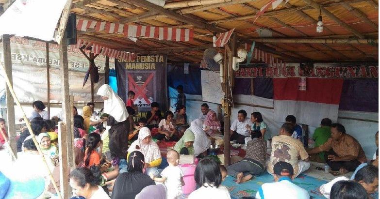 147 Warga Korban Penggusuran di Kota Bekasi Tinggal di Tenda Darurat