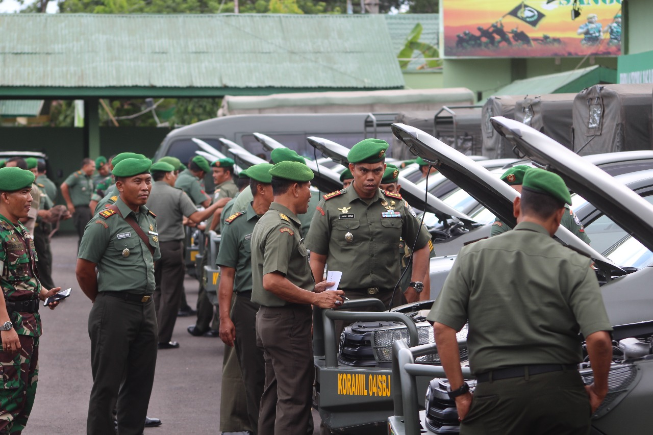 Dandim 0104/Aceh Timur Gelar Apel Kendaraan Dinas