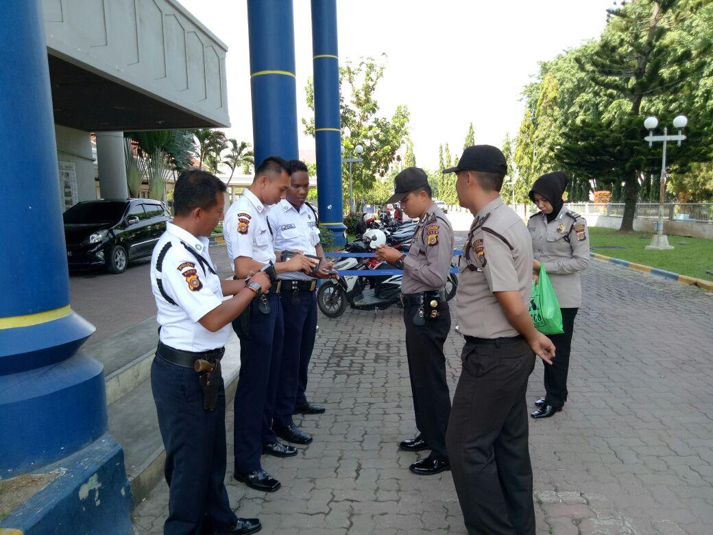 Polisi Periksa Kelengkapan Satpam di Lhokseumawe