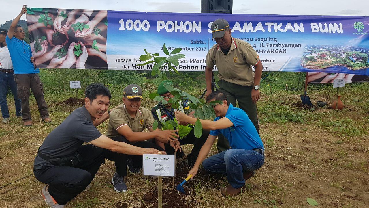 Hari Penanaman Pohon Indonesia, Kodim 0609 Tanam 1.000 Pohon