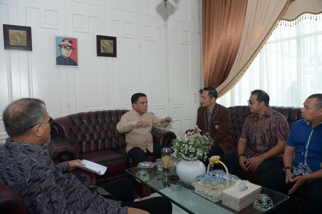 AHY Berkunjung ke Aceh Disambut Gubernur dan Wagub Aceh
