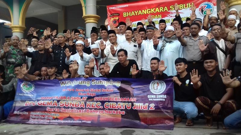 Polres Purwakarta Sosialisasi Bahaya Narkoba di Desa Cipinang