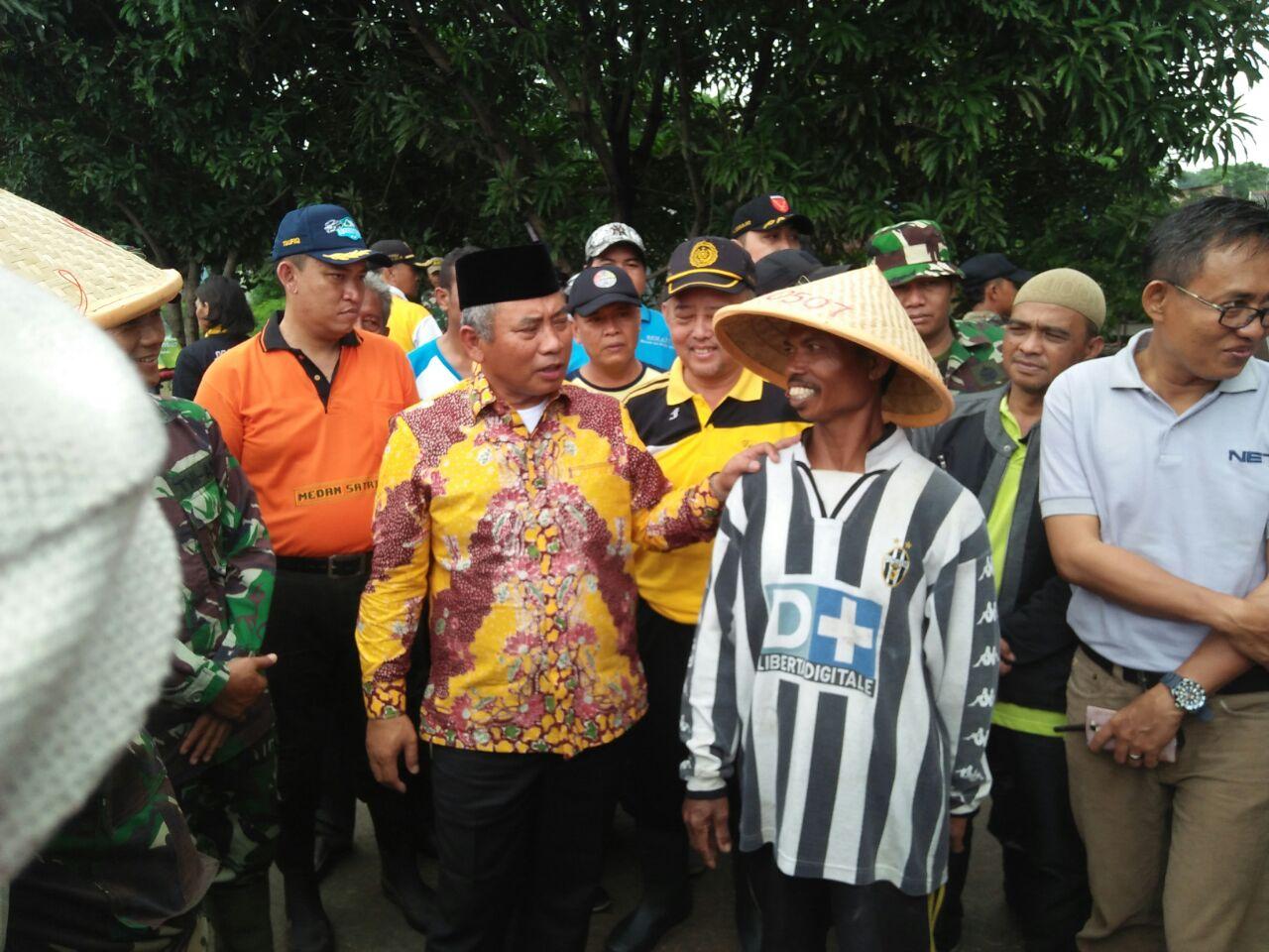 Rangkul Petani, Walikota Bekasidan Tiga Pilar Lakukan Panen Raya