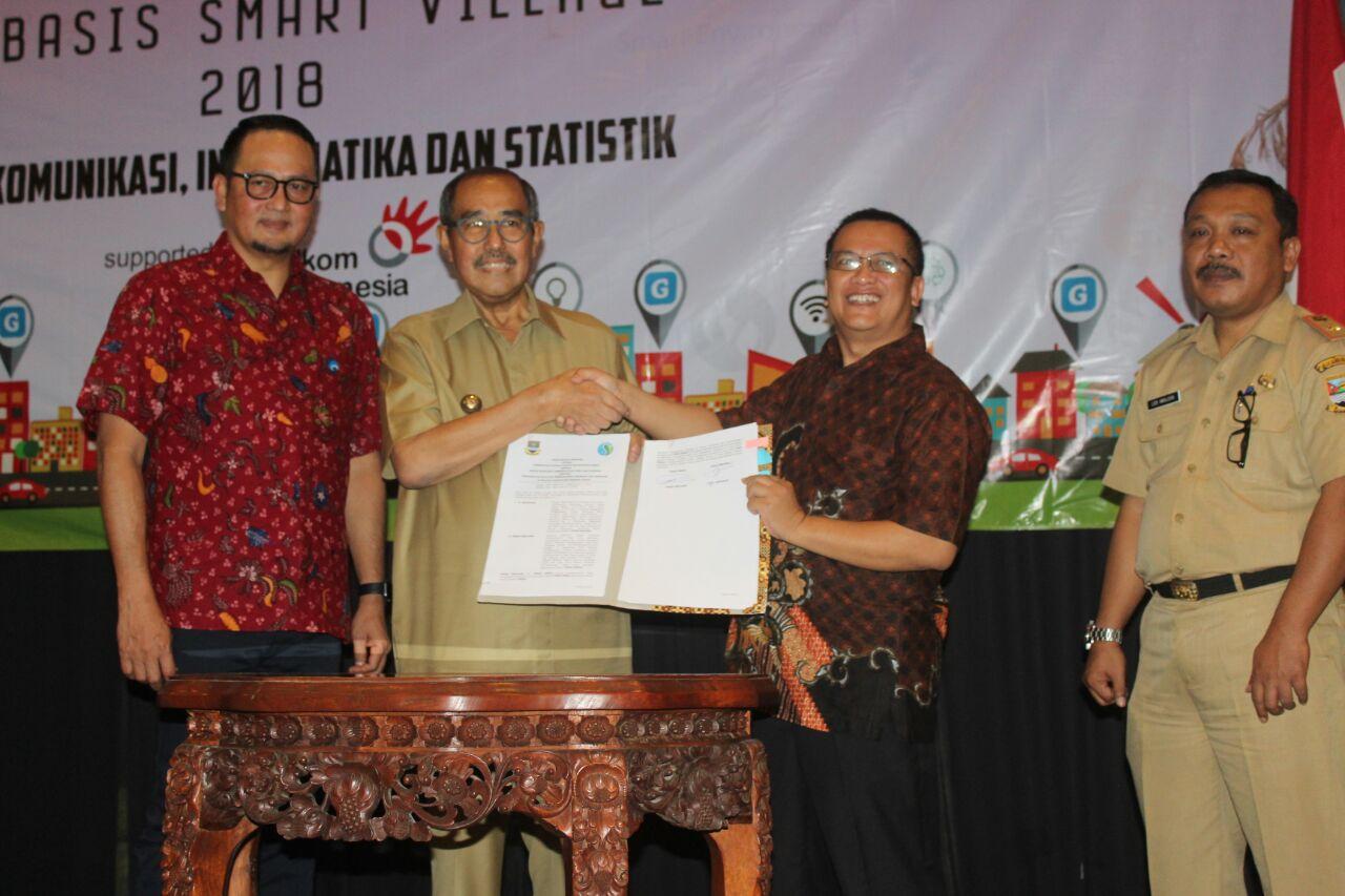 Pemkab Bandung Barat dan BP2DK Setujui Smart City Berbasis Pedesaan