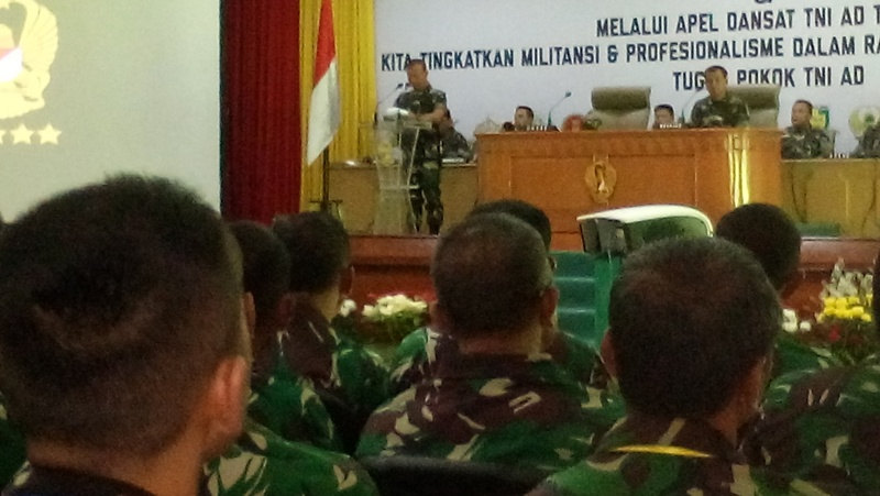 Kasad Buka Apel Dansat dan Rabiniscab TNI AD 2018