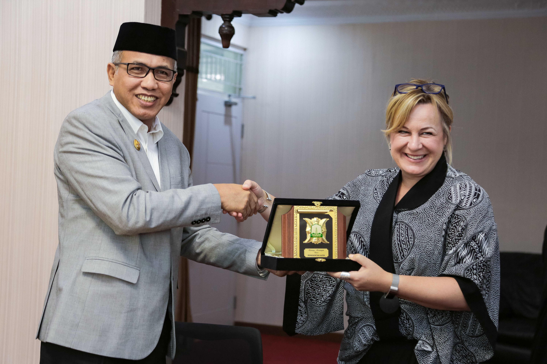 Wagub Aceh Terima Kunjungan Tim Arsitektur Vernakular dari University of South Australia