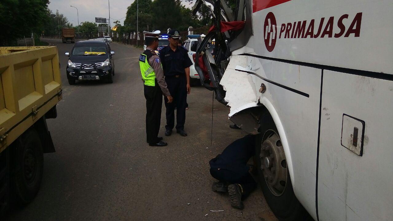 Pasca Kecelakaan di Tol, Polres dan Dinas Perhubungan Purwakarta Gelar Ramp Check