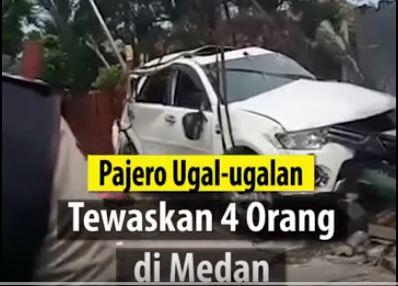 Bawa Mobil Ugal-ugalan di Medan Akibatkan 4 Orang Tewas dan 3 Orang Kritis